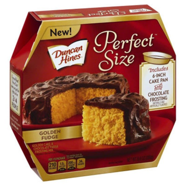 Duncan Hines Perfect Size Golden and Chocolate Fudge Cake & Frosting Mix