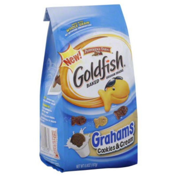 Pepperidge Farm Goldfish Cookies & Cream Baked Graham Snacks