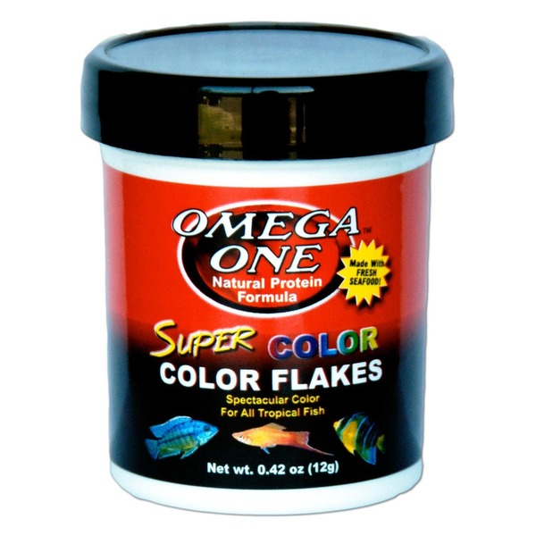 Omega One Natural Protein Formula Super Color Flakes For All Tropical Fish