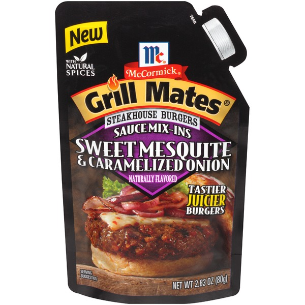 McCormick Grill Mates Steakhouse Burgers Sweet Mesquite & Caramelized Onion Sauce Mix-Ins Seasoning