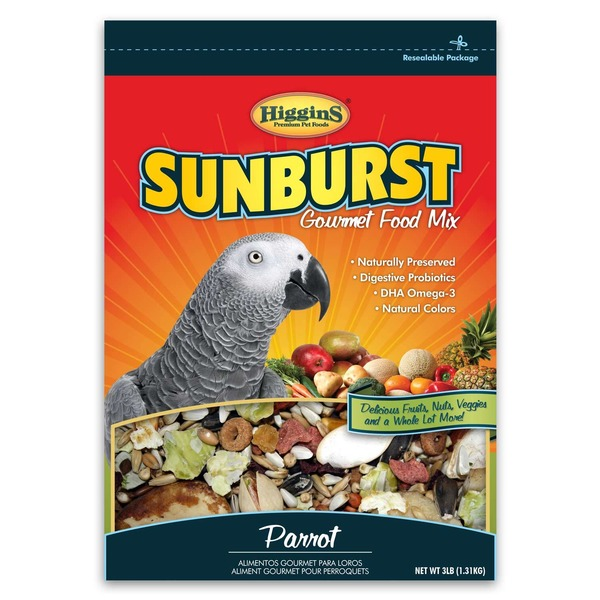 Higgins Sunburst Gourmet Food Mix For Parrots
