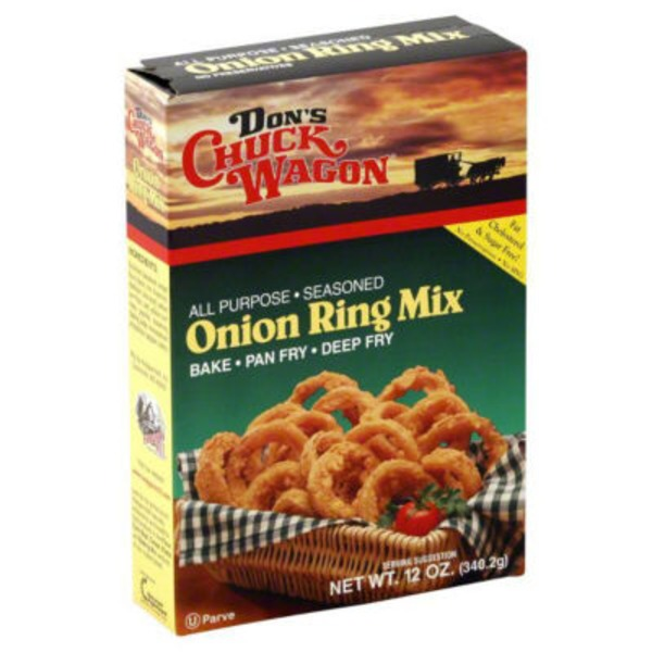 Dons Chuck Wagon Onion Ring Mix, Seasoned, Box