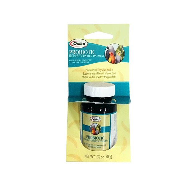 Quiko Probiotic Digestive Support Supplement for Parrots, Cockatiels & Other Pet Birds