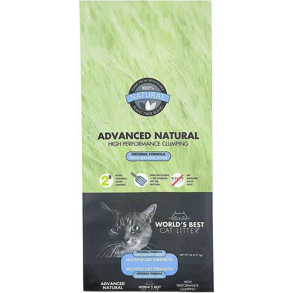 World's Best Cat Litter Advanced Natural High Performance Clumping Formula