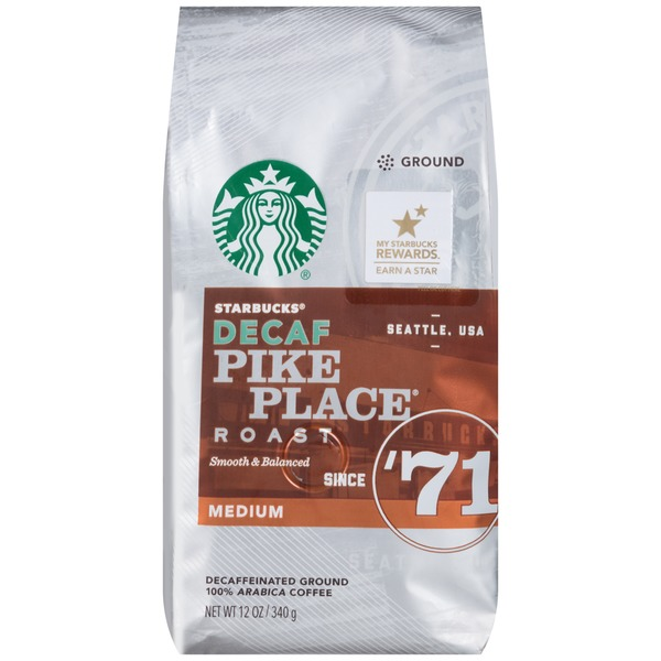 Starbucks Decaf Pike Place Medium Roast Ground Coffee