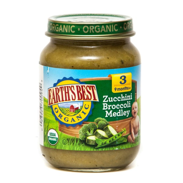 Earth's Best Organic Stage 3 Zucchini Broccoli Medley Baby Food