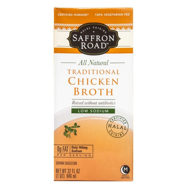 Saffron Road Halal Cuisine All Natural Traditional Chicken Broth Low Sodium