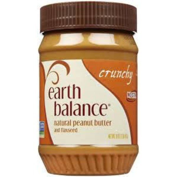 Earth Balance Crunchy Natural Peanut Butter and Flaxseed