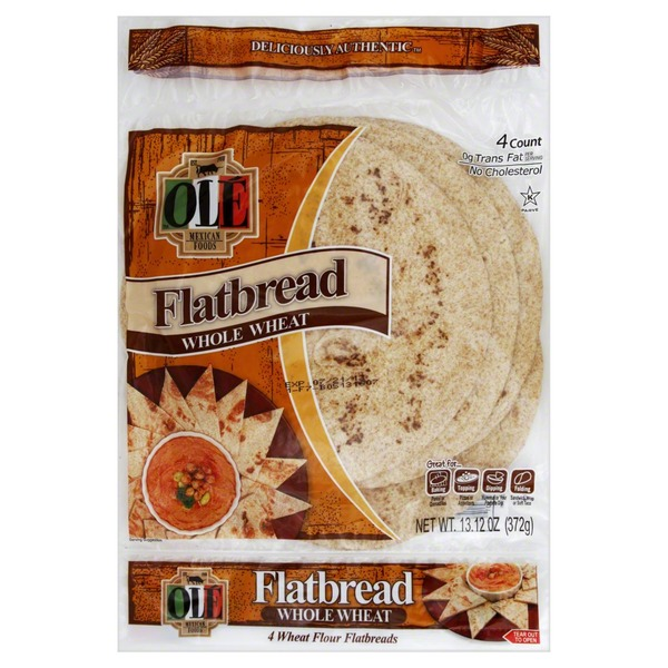 Ole Flatbread, Wheat Flour, Whole Wheat