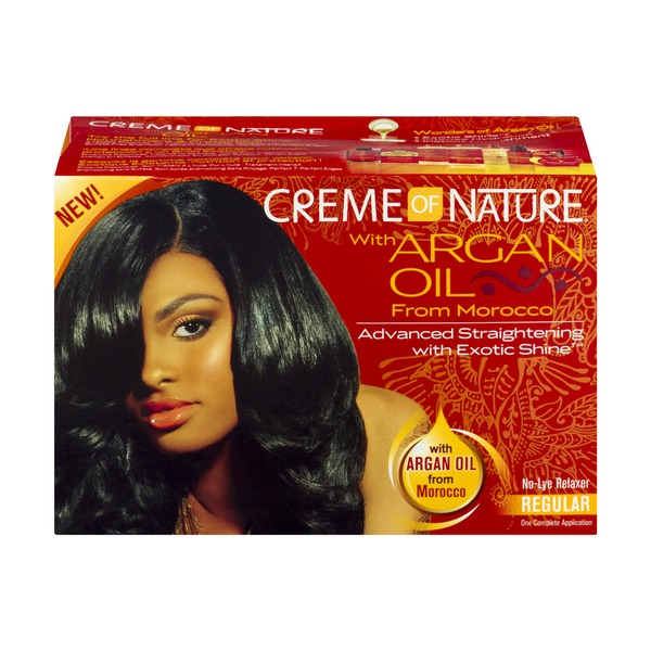 Creme of Nature with Argan Oil From Morocco Advanced Straightening with Exotic Shine No-Lye Relaxer