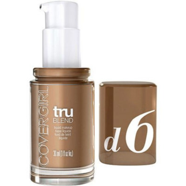 CoverGirl TruBlend COVERGIRL truBlend Liquid Foundation Makeup Toasted Almond, 1 fl oz (30 ml) Female Cosmetics