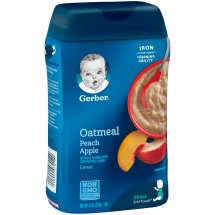 Gerber Oatmeal and Peach Apple Baby Cereal, 8 oz