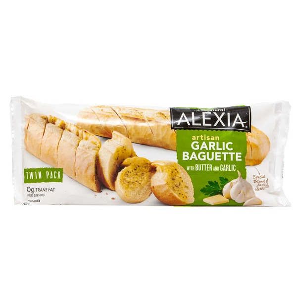 Alexia All Natural Artisan with Butter & Garlic Garlic Baguette