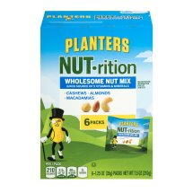 Planters NUT-rition Wholesome Nut Mix: Almond, Cashew, Macadamia, 6 count, 7.5 oz
