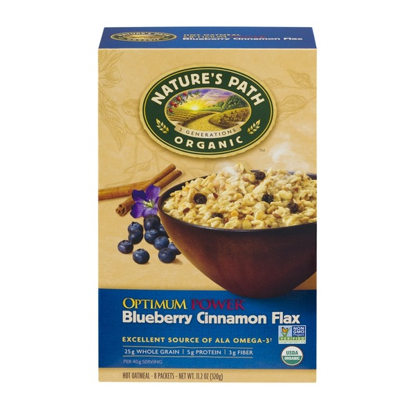 Nature's Path Organic Optimum Power Blueberry Cinnamon Flax Hot Oatmeal