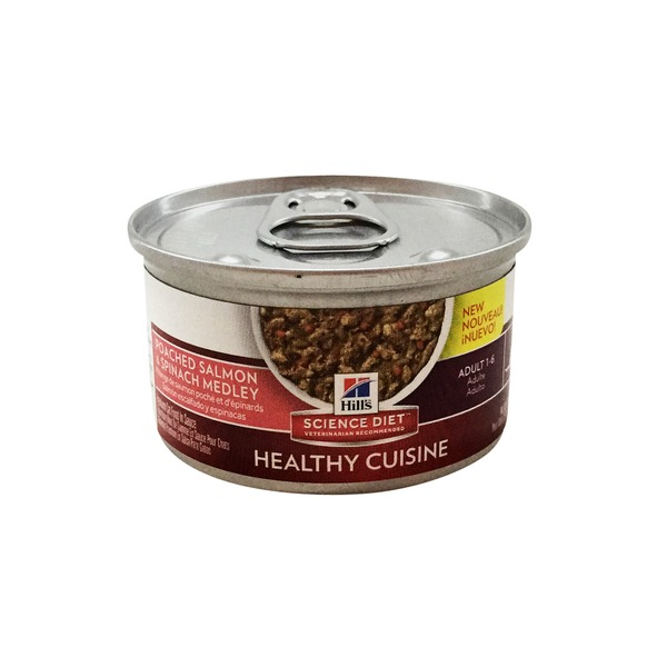Hill's Science Diet Healthy Cuisine Salmon & Spinach Adult Cat Food