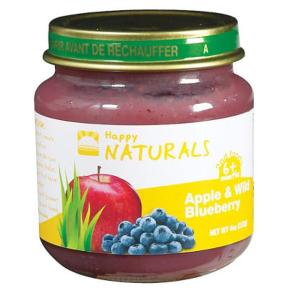 Happy Naturals 2nd Foods Apple & Wild Blueberry