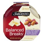 Sargento Balanced Breaks Natural White Cheddar Cheese, Sea-Salted Roasted Almonds & Dried Cranberries - 3 PK, 1.5 OZ