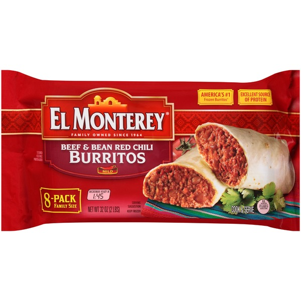 El Monterey Beef & Bean Red Chili Burritos