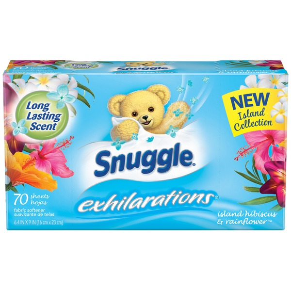 Snuggle Exhilarations Island Hibiscus & Rainflower Fabric Softener Dryer Sheets