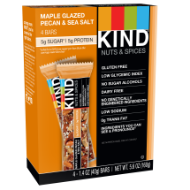 KIND Bars, Maple Glazed Pecan & Sea Salt, 4 Bars, Gluten Free