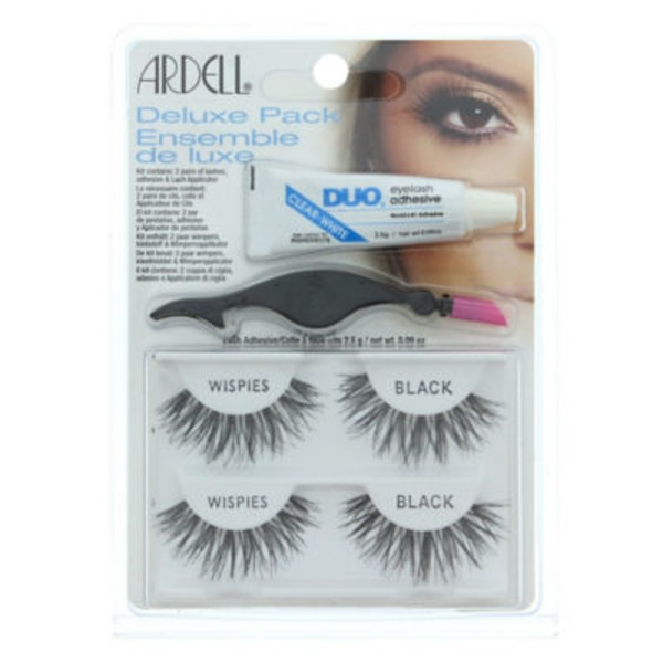 Ardell Deluxe Pack, Lashes, Wispies, Black