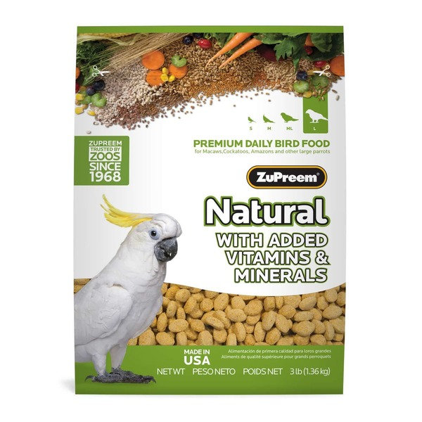 Zu Preem Classic Avian Maintenance Natural Bird Diet For Large Parrots