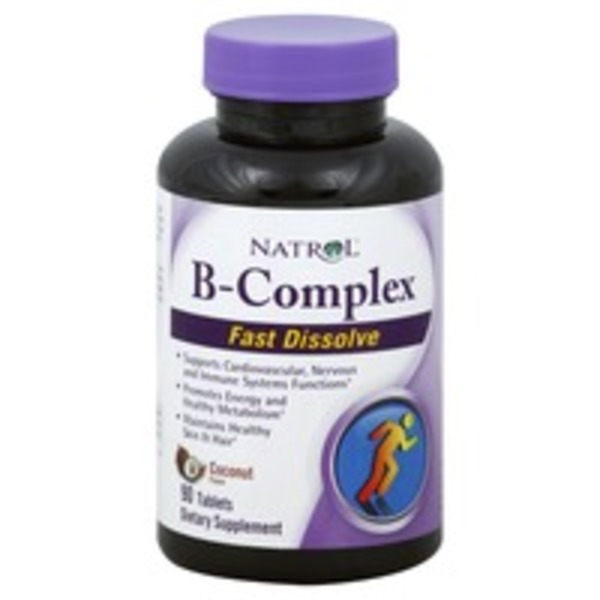 Natrol B-Complex, Fast Dissolve Tablets, Coconut Flavor