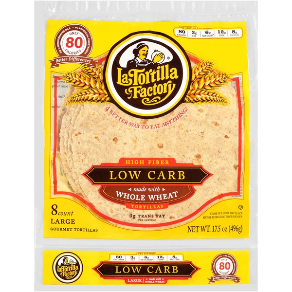 La Tortilla Factory Large Size Low Carb Whole Wheat Tortillas