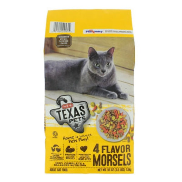 H‑E‑B Texas Pets Four Flavor Morsels Dry Cat Food