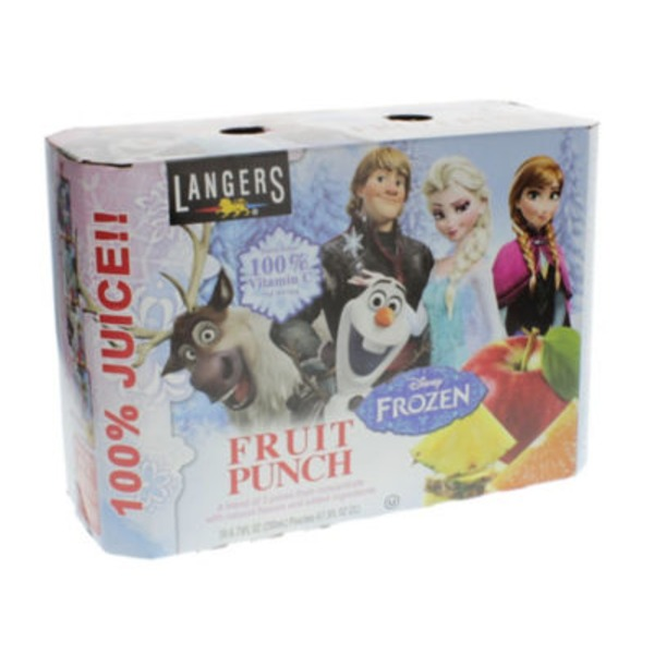 Langers Disney Frozen Fruit Punch Pouches