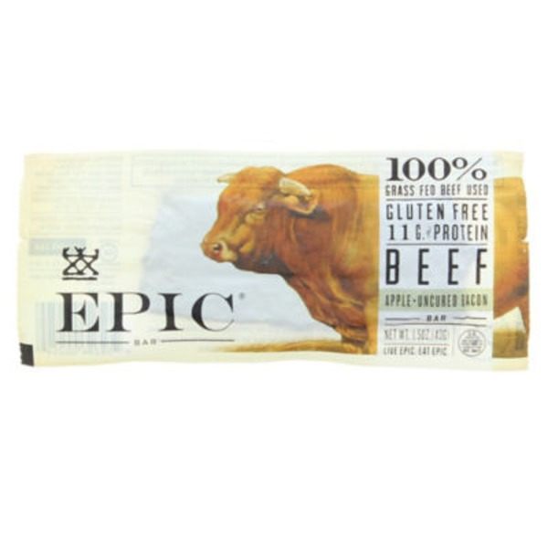 Epic Gluten Free Apple Uncured Bacon Beef Bar