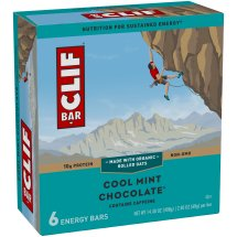 Clif Bar, 10 Grams of Protein, Cool Mint Chocolate, 2.4 Oz, 6 Ct