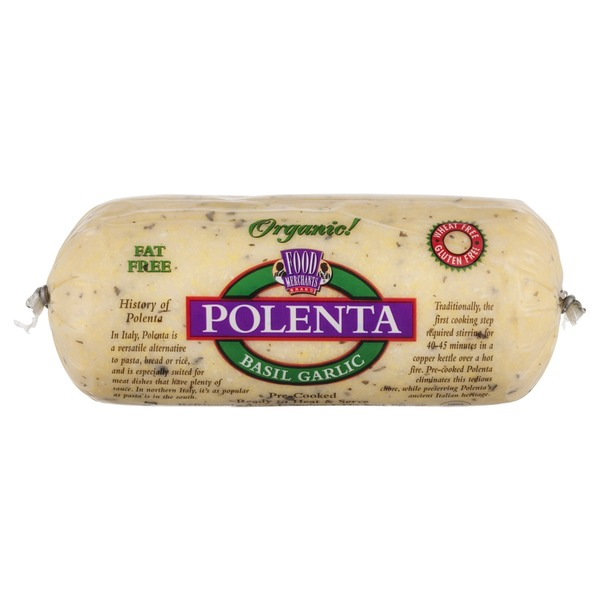 Food Merchants Organic Polenta Basil Garlic