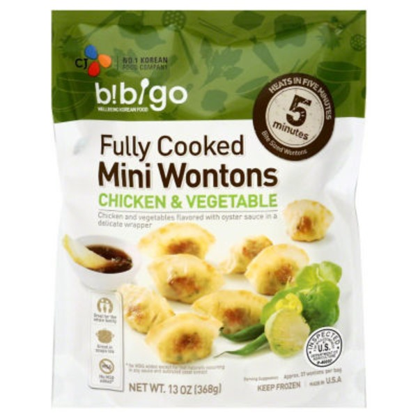 Bibigo Wontons, Mini, Chicken & Vegetable