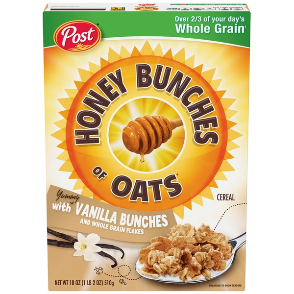 Honey Bunches Of Oats With Vanilla Bunches Cereal