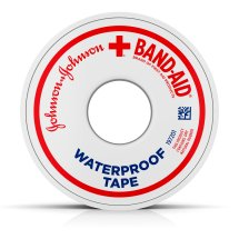 BAND-AID® Brand of First Aid Products Waterproof Tape to Secure Bandages, .5 Inches by 10 Yards
