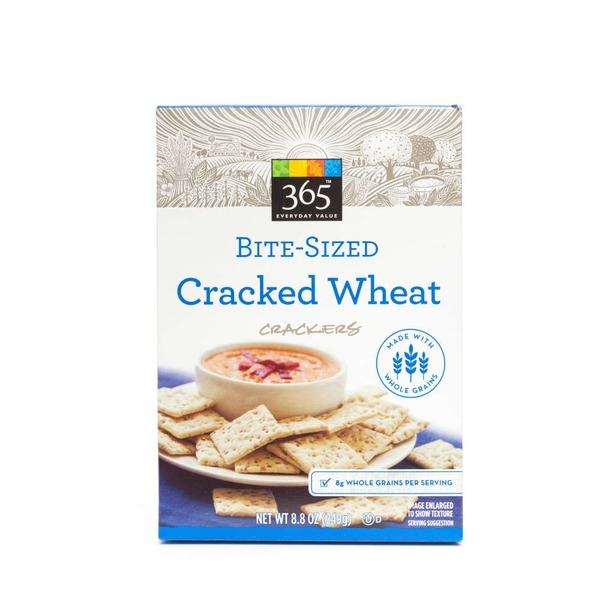 365 Bite Sized Cracked Wheat Crackers