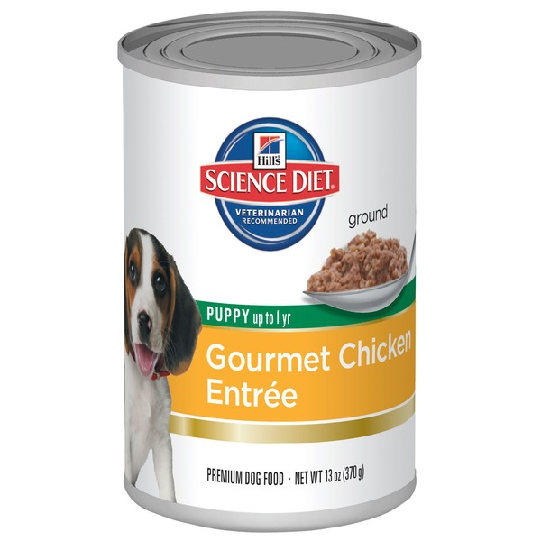 Hill's Science Diet Gourmet Chicken Entree Premium Dog Food for Puppies Up to 1 Year