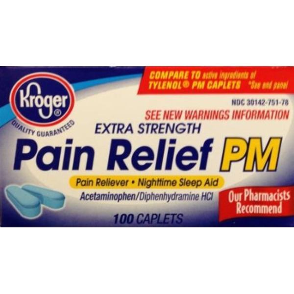 Kroger Pain Relief PM Pain Reliever Sleep Aid