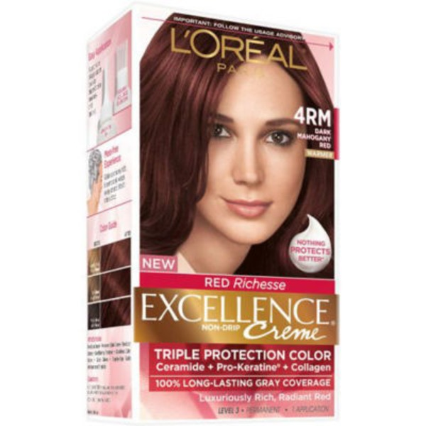 Excellence Creme 4RM Red Richesse Warmer Dark Mahogany Red Hair Color