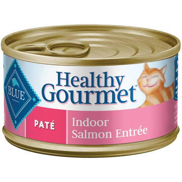 Blue Buffalo Food for Cats, Natural, Pate, Indoor, Salmon Entree