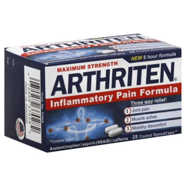 Arthriten Inflammatory Pain Formula Coated SpeedCaps - 28 CT