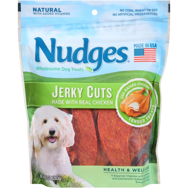 Tyson Pet Products Nudges Jerky Cuts Vitamin Essentials Made with Chicken Wholesome Dog Treats