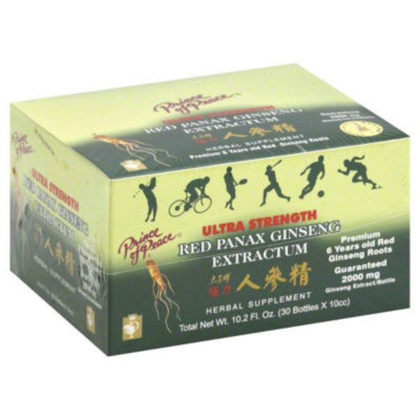 Prince of Peace Ultra Strength Red Panax Ginseng Extractum Dietary Supplement - 30 CT