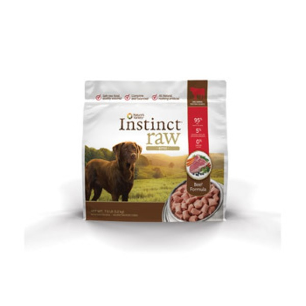 Nature's Variety Instinct Raw Beef Bites Frozen Dog Food