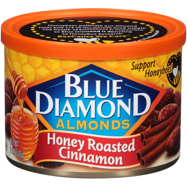Blue Diamond Almonds Honey Roasted Cinnamon Almonds