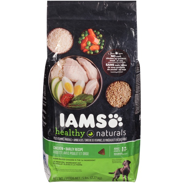 Iams Healthy Naturals Chicken + Barley Recipe Adult 1+ Years Dog Food
