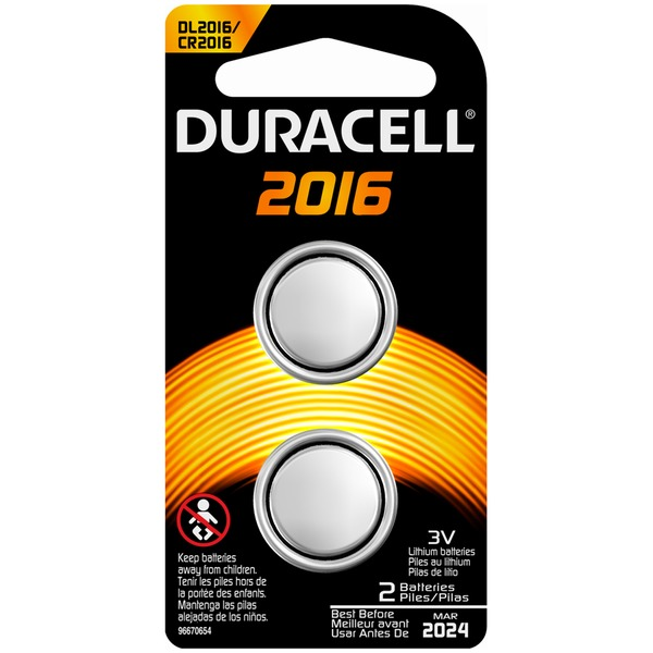 Duracell 2016 2 count  Specialty Batteries