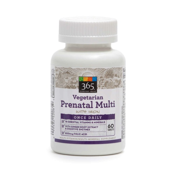 365 Prenatal One Vegetarian Daily Multivitamin Tablets